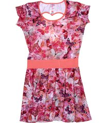 vestido multicolor brave teen mariposas