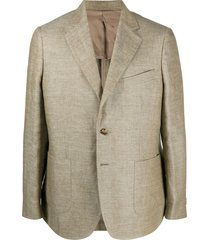 a kind of guise fitted single-breasted blazer - neutrals