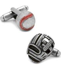baseball and glove antique cufflinks