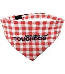 touchdog 'bad-to-the-bone' plaid patterned fashionable stay-put bandana large