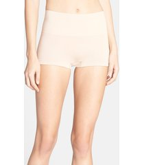 women's spanx 'everyday shaping panties' boyshorts, size large - beige
