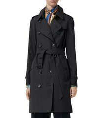 burberry the kensington heritage trench coat, size 0 in midnight at nordstrom