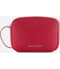 armani exchange women's camera case - royal red