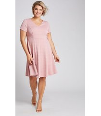 lane bryant women's textured fit & flare dress 10/12 bridal rose