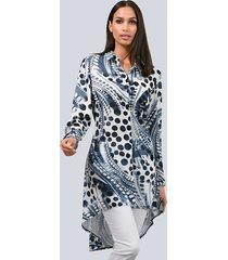 blouse alba moda wit::marine