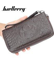 billetera larga para hombres baellerry da6 cartera-marrón