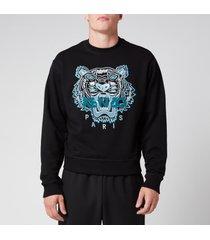 kenzo men's classic tiger sweatshirt - black - l