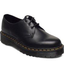 1461 bex black smooth snörade skor låga svart dr. martens