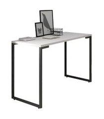 mesa para computador escrivaninha 120cm estilo industrial new port  f02 branco - mpozenato