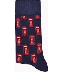 mens multi phone box motif socks