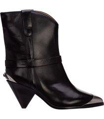 stivaletti stivali donna con'tacco in pelle limza