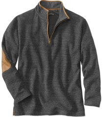 simoom tweed quarter-zip sweatshirt, charcoal, large