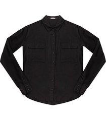 camisa negro active
