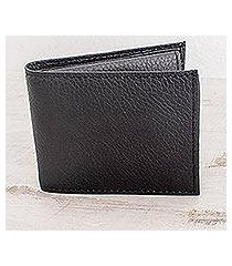 men's leather wallet, 'black knight' (nicaragua)