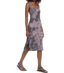 women's treasure & bond sleeveless dip dye tank dress, size x-small - black