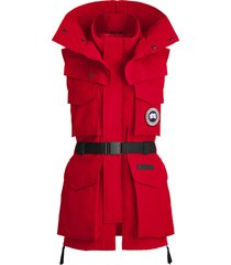 canada goose x angel chen belted longline gilet - red