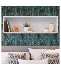 nicho parede horizontal organizador multiuso funcionale 36x120x26cm art in móveis