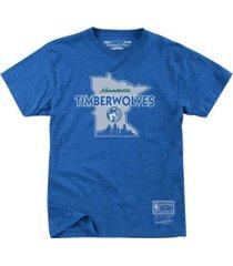 mitchell & ness minnesota timberwolves men's state wordmark t-shirt