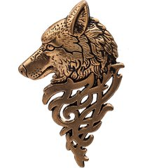 distintivo di lupo di totem con testa di spilla a forma di vestito di personalità in stile britannico per uomo