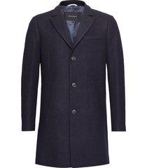 malto classic wool wollen jas lange jas blauw matinique