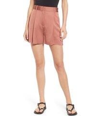 women's allsaints rafaella high waist shorts, size 4 us - red