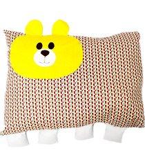 travesseiro colo de mãe de urso + fronha amarelo