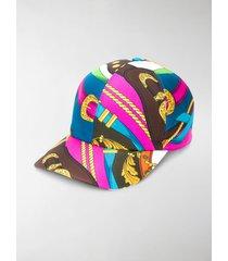 versace belt print baseball cap