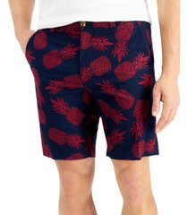 """club room men's 9"""" pineapple print shorts, created for macy's"""