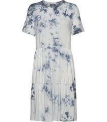 cane dress knälång klänning vit modström