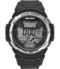 relógio mormaii digital wave mo3500a8k preto/prata - kanui