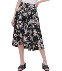 calvin klein printed high-low skirt