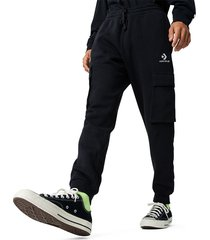 converse pantalón embroidered star chevron cargo pant para hombre black