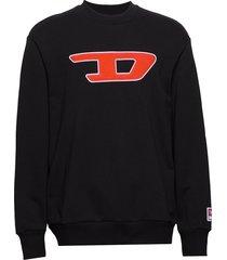 s-crew-division-d sweat-s sweat-shirt trui zwart diesel men