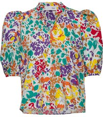 linh blouse blouses short-sleeved multi/mönstrad storm & marie