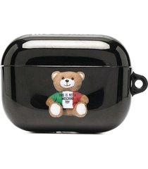 moschino teddy airpods case - black