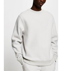 river island mens prolific grey regular fit fleece sweatshirt