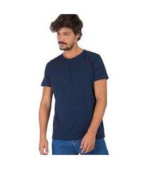 t-shirt taco básica flamê fit premium azul marinho