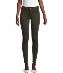 l'agence women's marguerite high-rise skinny jeans - army green - size 23 (00)