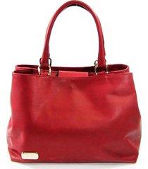 bolsa tiracolo em couro com dois compartimentos maria adna vermelha