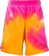 misbhv tie-dye logo track shorts - pink