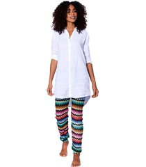 multicolor black chevron knitted pants