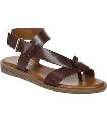 women's franco sarto glenni sandal, size 10 w - brown