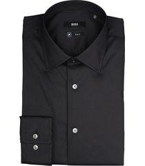hugo boss overhemd jango zwart slim fit 50421976/001