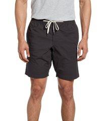 men's vuori ripstop drawstring shorts, size large - grey
