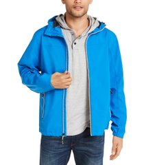 hawke & co. men's all-season lightweight hooded rain jacket