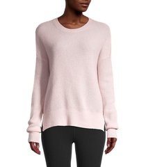 amicale women's textured cashmere sweater - grey - size l