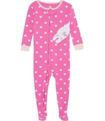 baby girls kitty cat footie pajamas