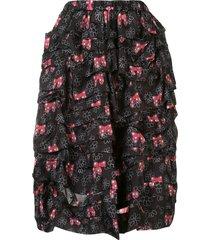 comme des garçons girl bow print skirt - black
