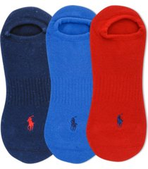 polo ralph lauren men's cushioned low cut socks, 3-pk