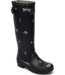 welly print regnstövlar skor svart joules